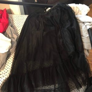 Black maxi tutu skirt